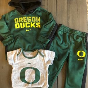 12 Month Nike Oregon Duck Therma Fit Set